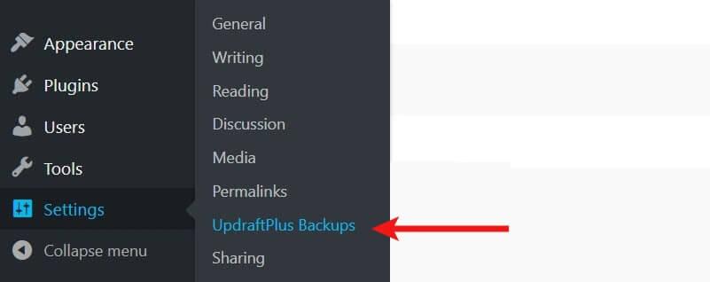 اضافة UpdraftPlus