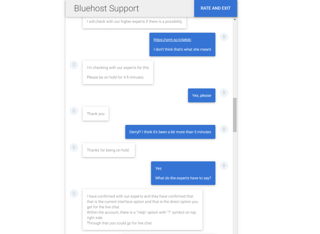 bluehost support